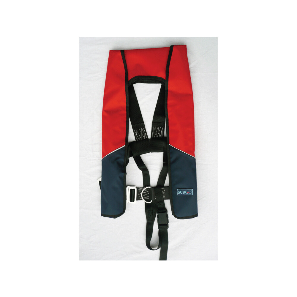 180 Classic Lifejacket Auto/Harness Red/Navy